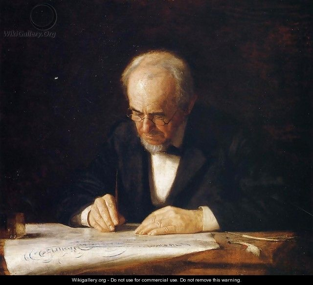 The Writing Master - Portrait of the Artist