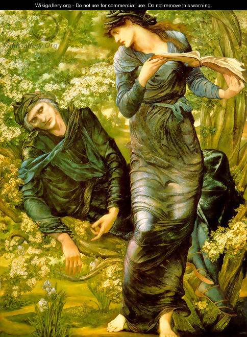 The Beguiling of Merlin - Sir Edward Coley Burne-Jones