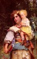 Gypsy Woman and Child - Cesare-Auguste Detti
