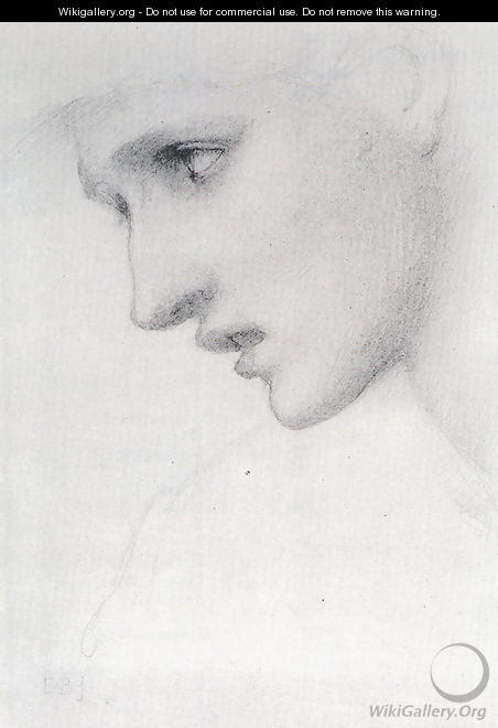 Profile To The Left - Sir Edward Coley Burne-Jones