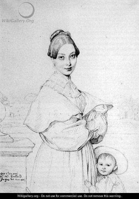 Madame Victor Baltard, born Adeline Lequeux, and her daughter, Paule - Jean Auguste Dominique Ingres