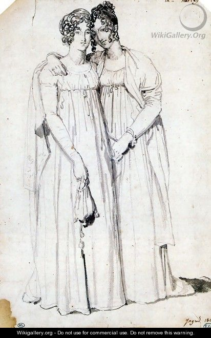 Henriette Harvey and her half sister Elizabeth Norton - Jean Auguste Dominique Ingres