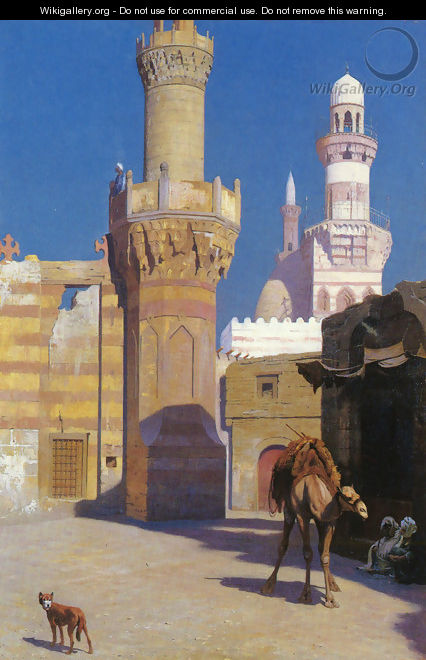 Une Journee Chaud Au Caire (Devant La Mosquee) (A Hot Day in Cairo (In front of the Mosque)) - Jean-Léon Gérôme