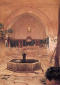Courtyard of a Mosque at Broussa - Lord Frederick Leighton