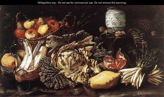 Still-life with Fruit, Vegetables and Animals 1621 - Tommaso Salini (Mao)