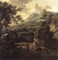 Mountain Scene with Herd of Cattle - Frederick De Moucheron