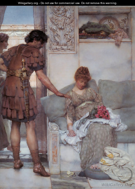 A Silent Greeting - Sir Lawrence Alma-Tadema