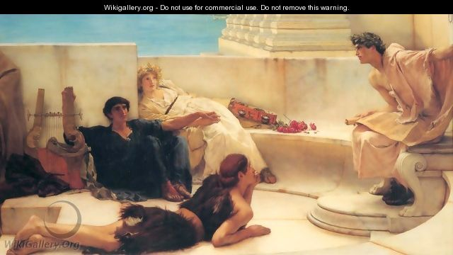 A Reading from Homer - Sir Lawrence Alma-Tadema