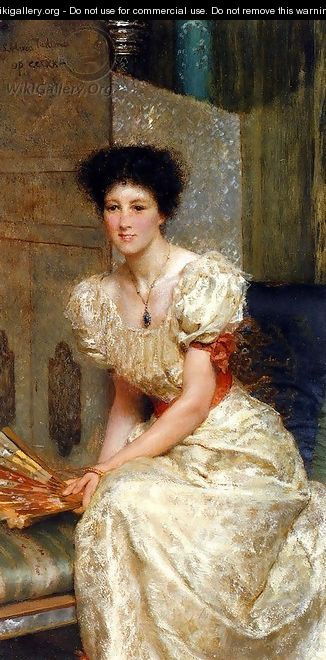 Portrait Of Mrs Charles Wyllie - Sir Lawrence Alma-Tadema