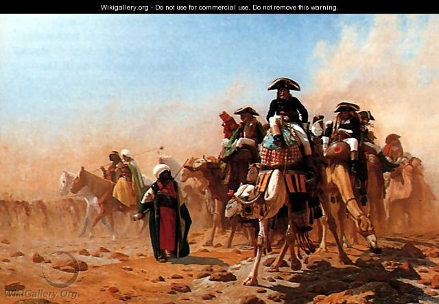 Bonaparte et son armée en Egypte (Napolean and his General Staff in Egypt) - Jean-Léon Gérôme