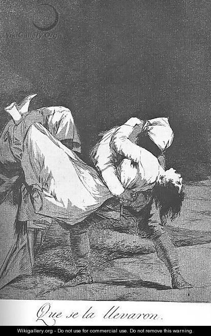 Caprichos - Plate 8: They Carried her Off - Francisco De Goya y Lucientes