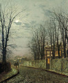 A Wintry Moon - John Atkinson Grimshaw