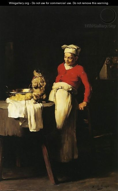 The Cook and the Pug - Claude Joseph Bail