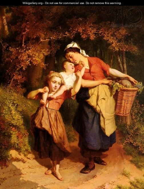 Returning From The Market - Theodore Gerard