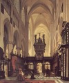 Figures in the Choir of a Cathedral - Jules Victor Genisson