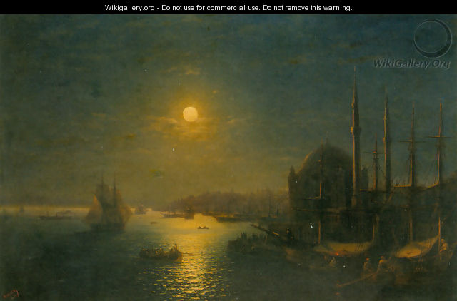 A Moonlit View of the Bosphorus - Ivan Konstantinovich Aivazovsky