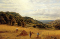 Harvesting At Luccombe, Isle Of Wight - Alfred Glendening