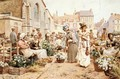 Flower Market in a French Town - Alfred Glendening