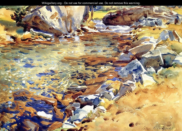 Brook among Rocks - John Singer Sargent