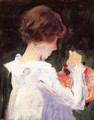 Study of Polly Barnard for 'Carnation, Lily, Lily, Rose' - John Singer Sargent