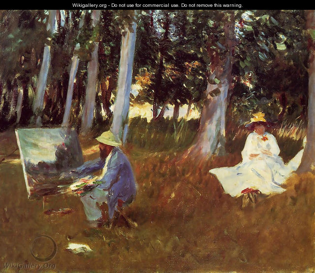 Claude Monet Painting by the Edge of a Wood - John Singer Sargent