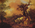 Landscape with a Woodcutter and Milkmaid - Thomas Gainsborough