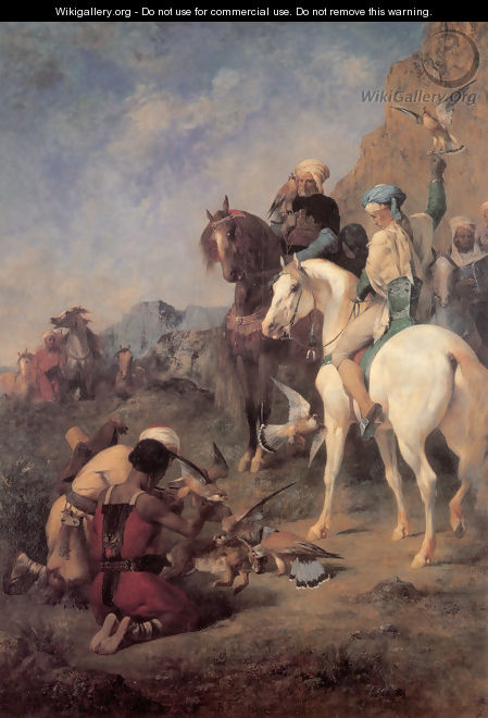 Falcon Hunting in Algeria (or The Quarry) - Eugene Fromentin