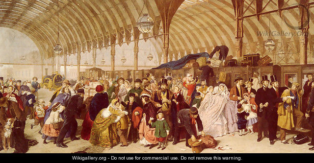 The Railway Station - William Powell Frith