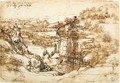 Landscape drawing for Santa Maria della Neve on 5th August 1473 - Leonardo Da Vinci