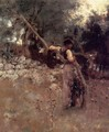 Capri Girl (or Among the Olive Trees, Capri) - John Singer Sargent
