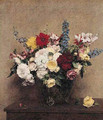 The Rosy Wealth of June - Ignace Henri Jean Fantin-Latour