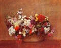 Flowers in a Bowl - Ignace Henri Jean Fantin-Latour