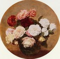 A Large Bouquet of Roses - Ignace Henri Jean Fantin-Latour