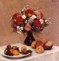 Flowers and Fruit - Ignace Henri Jean Fantin-Latour