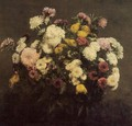 Large Bouquet of Crysanthemums - Ignace Henri Jean Fantin-Latour