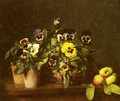 Still Life with Pansies - Ignace Henri Jean Fantin-Latour