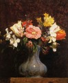 Flowers, Camelias and Tulips - Ignace Henri Jean Fantin-Latour