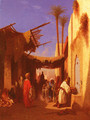 Street In Damascus and Street In Cairo: A Pair of Painting (Pic 1)s - Charles Théodore Frère