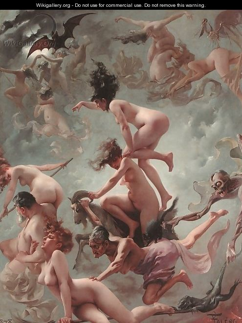 Vision Of Faust by Luis Ricardo Falero  Curiator