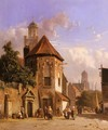 View Of A Dutch Street - Adrianus Eversen