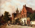 A View In Delft - Adrianus Eversen