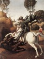St George and the Dragon -  Raphael