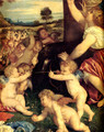The Worship of Venus [detail: 1] - Tiziano Vecellio (Titian)