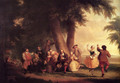 The Dance Of The Battery In The Presence Of Peter Stuyvesant - Asher Brown Durand
