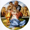 The Holy Family with the Infant John the Baptist (or The Doni tondo) - Michelangelo Buonarroti