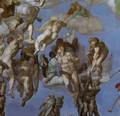 The Last Judgement [detail: 3] (or After restoration) - Michelangelo Buonarroti