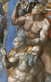 The Last Judgement [detail: 2] (or After restoration) - Michelangelo Buonarroti