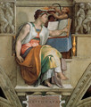 Ceiling of the Sistine Chapel: Sybils: Erithraea - Michelangelo Buonarroti