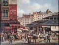 View of the Market at Les Halles, c. 1828 - Guiseppe Canella