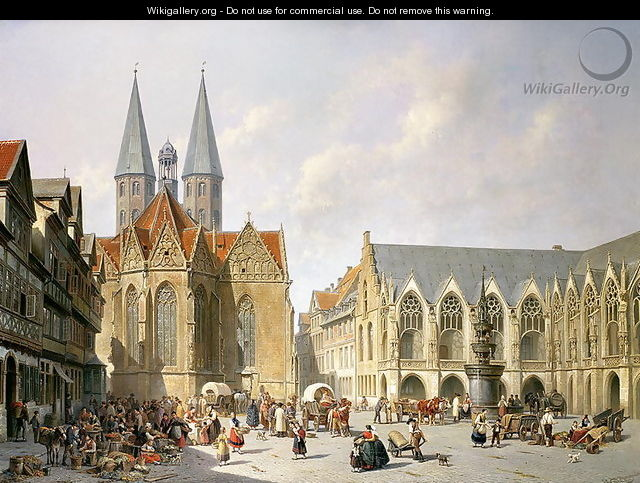 The Old Town Market Square, Brunswick, 1890 - Jacques Carabain